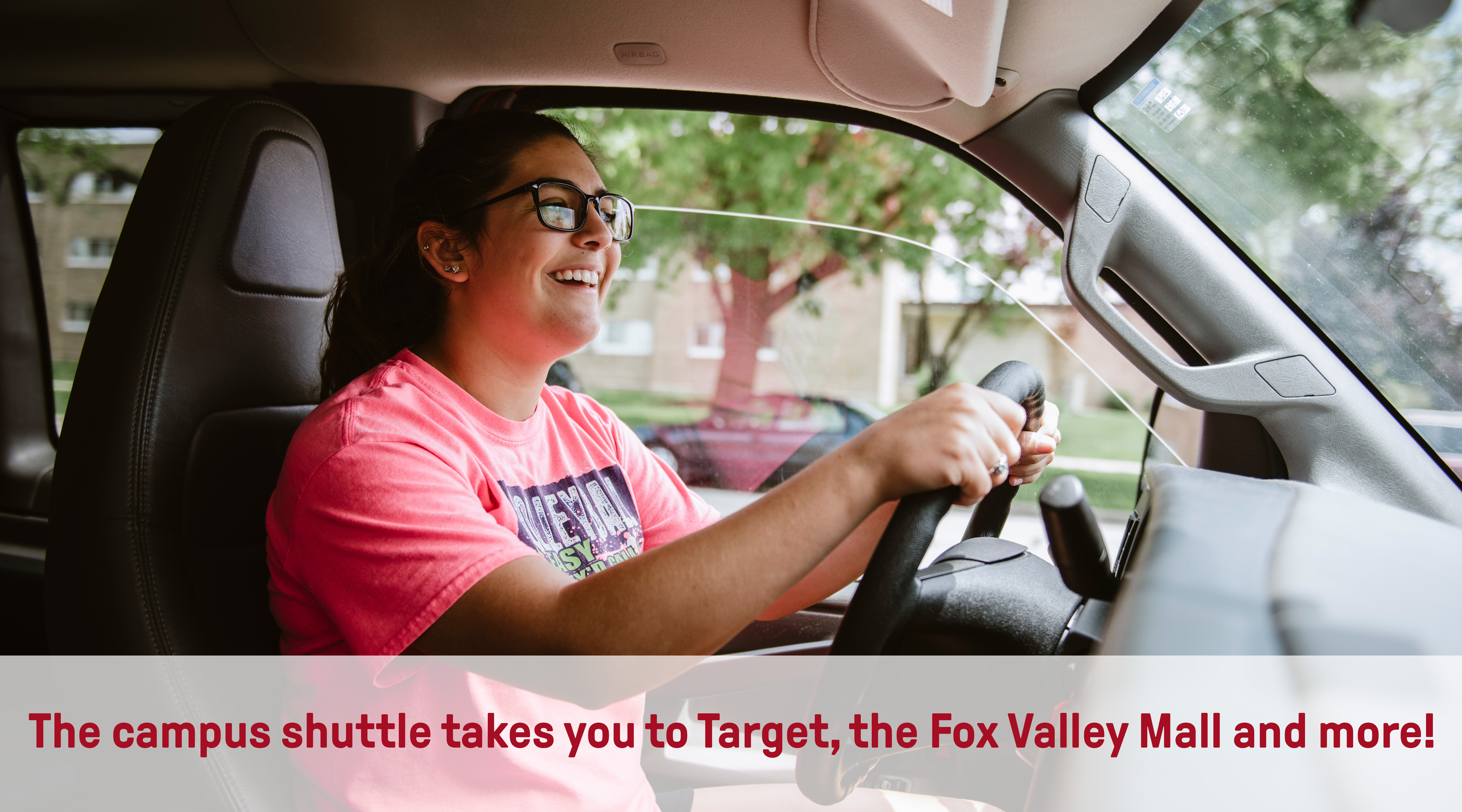 Campus Shuttle | Target, Bowling, Fox Valley Mall and more!
