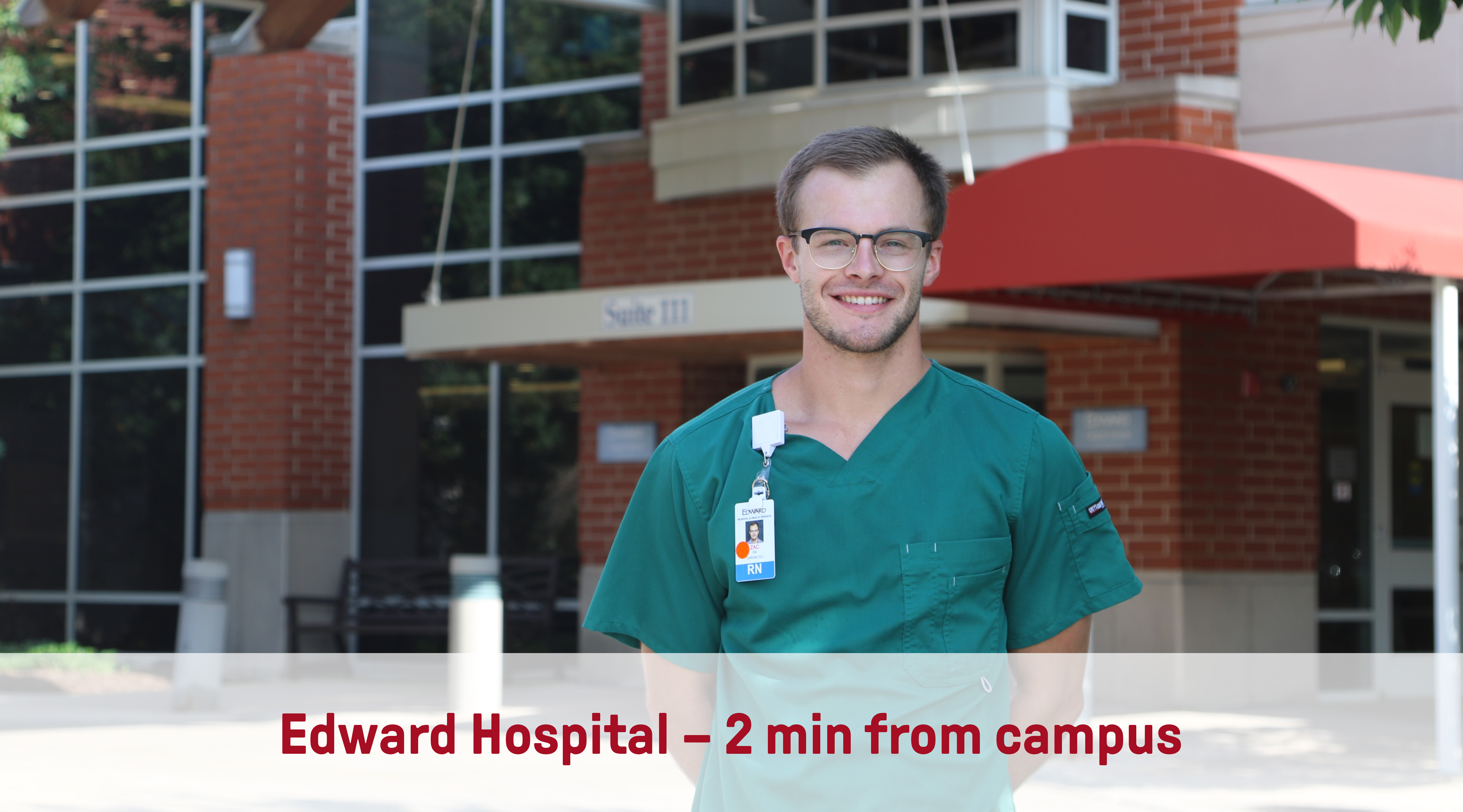Edward Hospital | 2min from campus