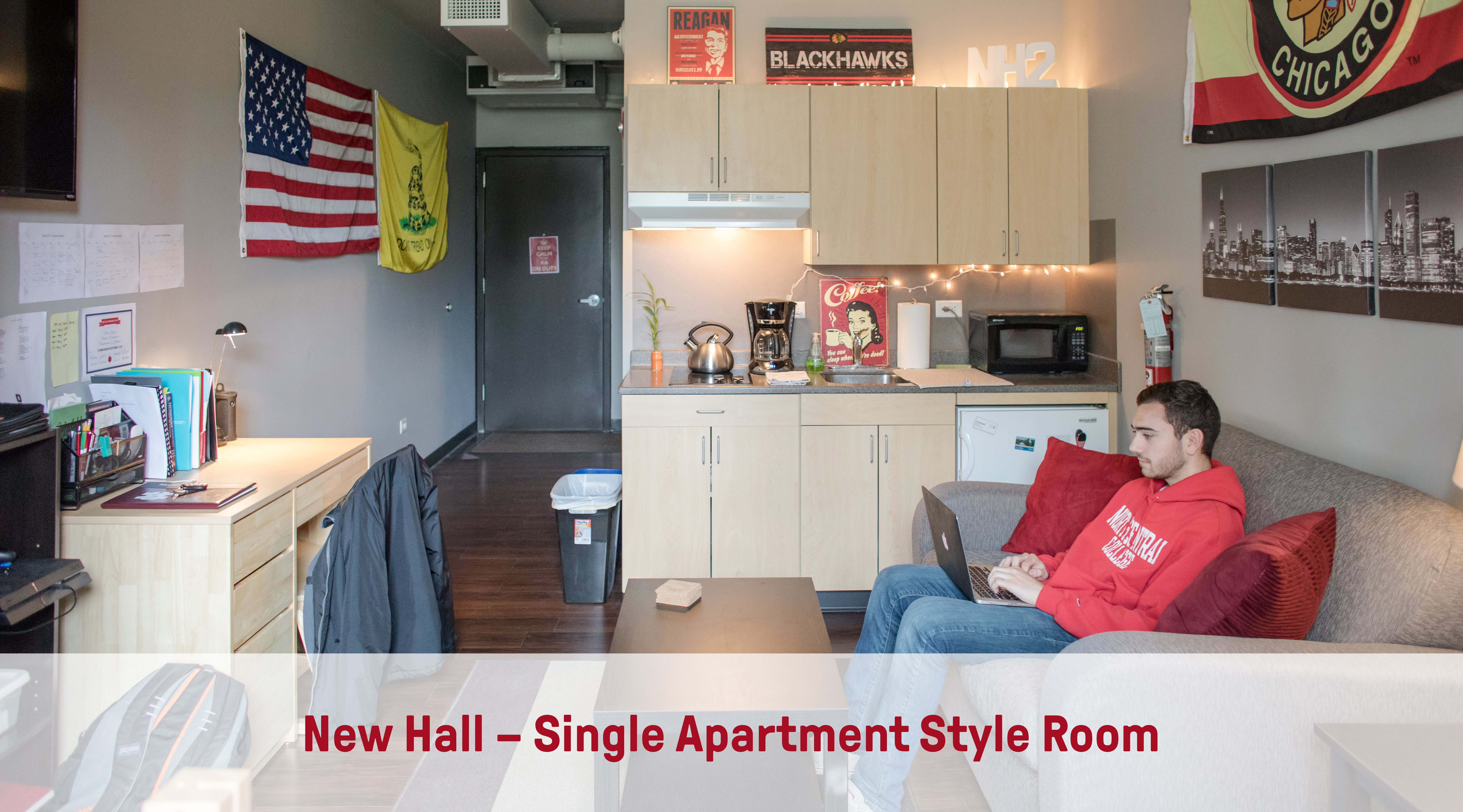 New Hall | Single Apartment-Style Room