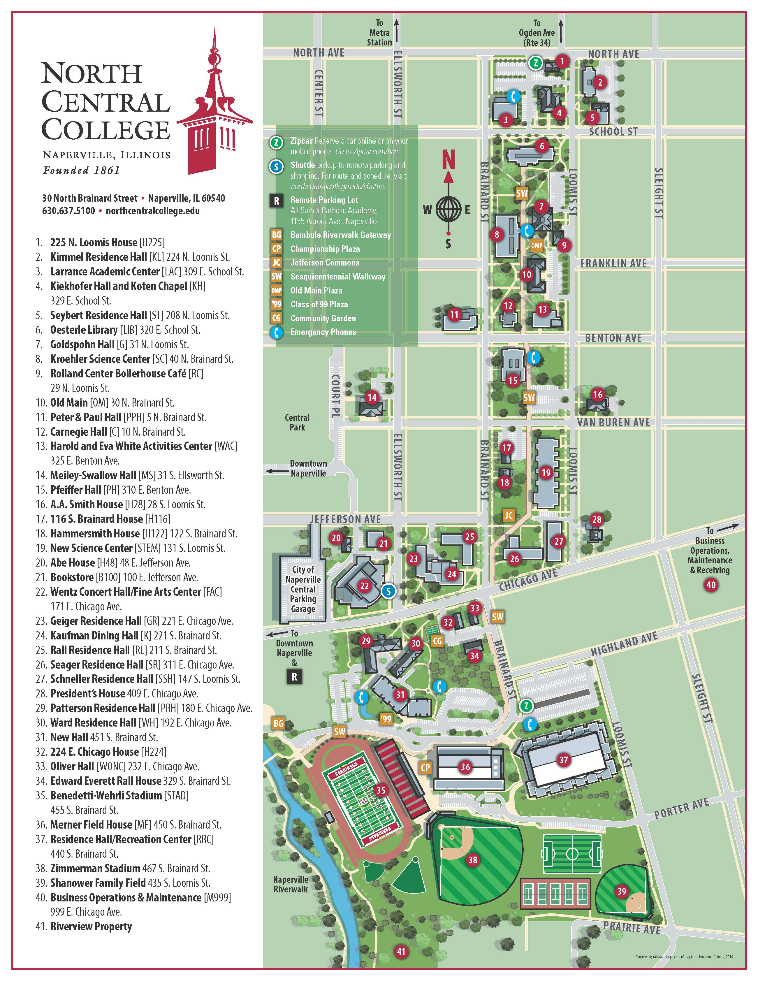 Missouri Western State University Campus Map.Football Clinics North Central College