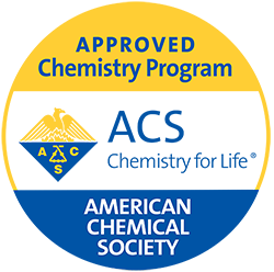 American Chemical Society seal for Approved Chemistry Program