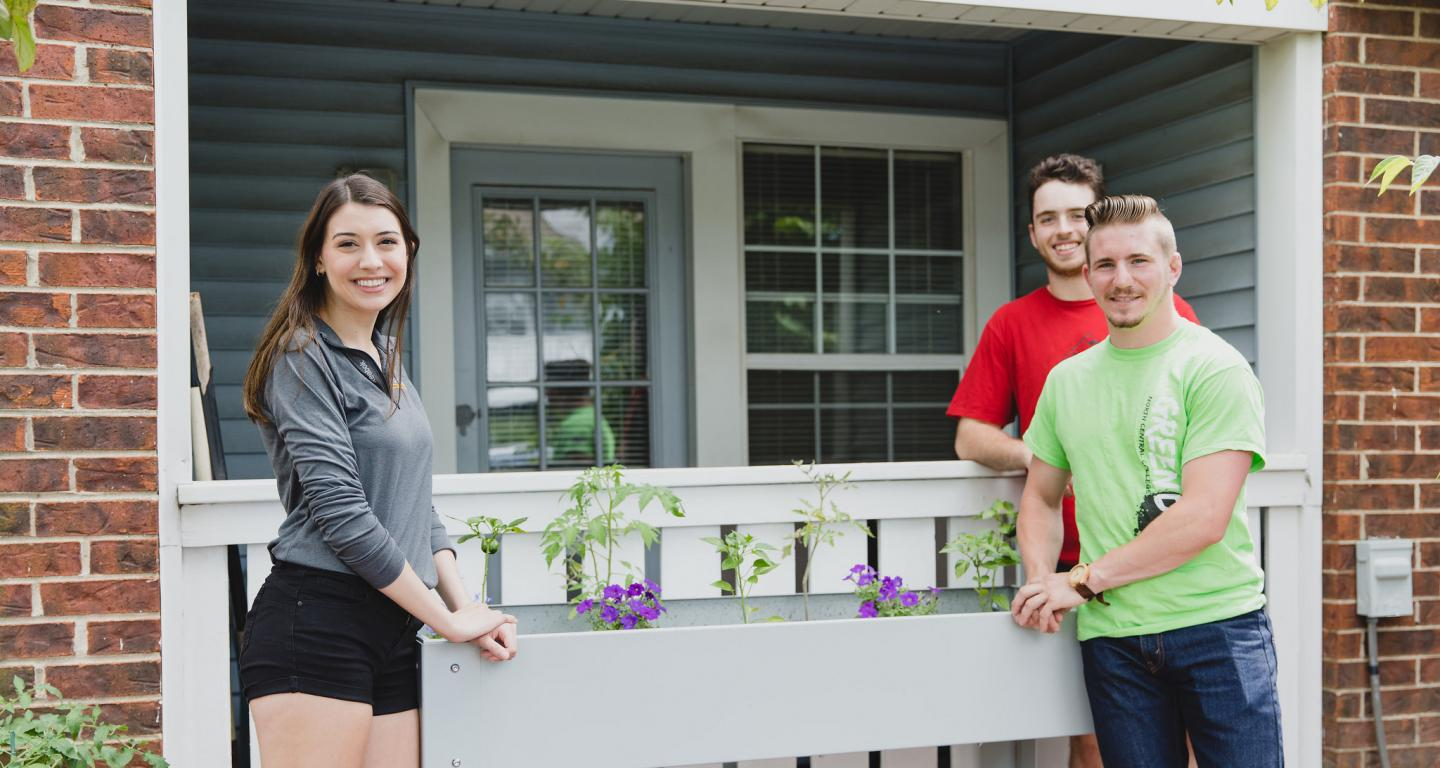 Gaby Rago, Will Welch and Brandon Malone of SureGrow Gardens.