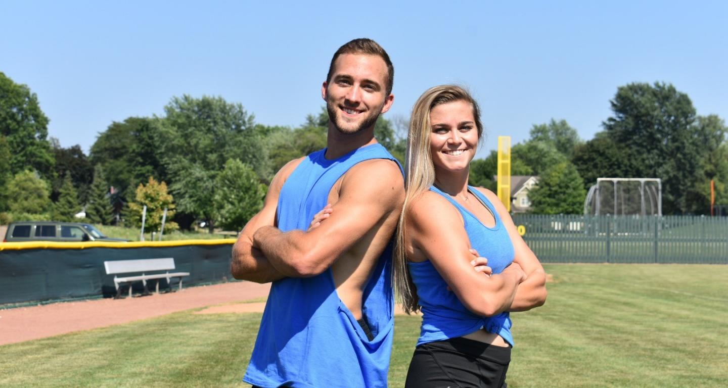 "Jared Collier and Taylor Clugston are a couple of North Central College student-athletes who auditioned for ""The Amazing Race."""