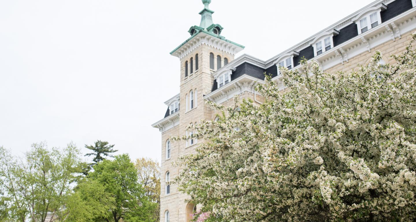 Old Main in the Spring