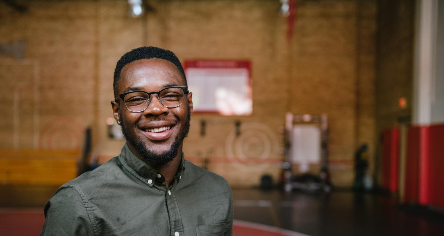 North Central College student Moe Mitchell, recipient of a Future Founders fellowship.