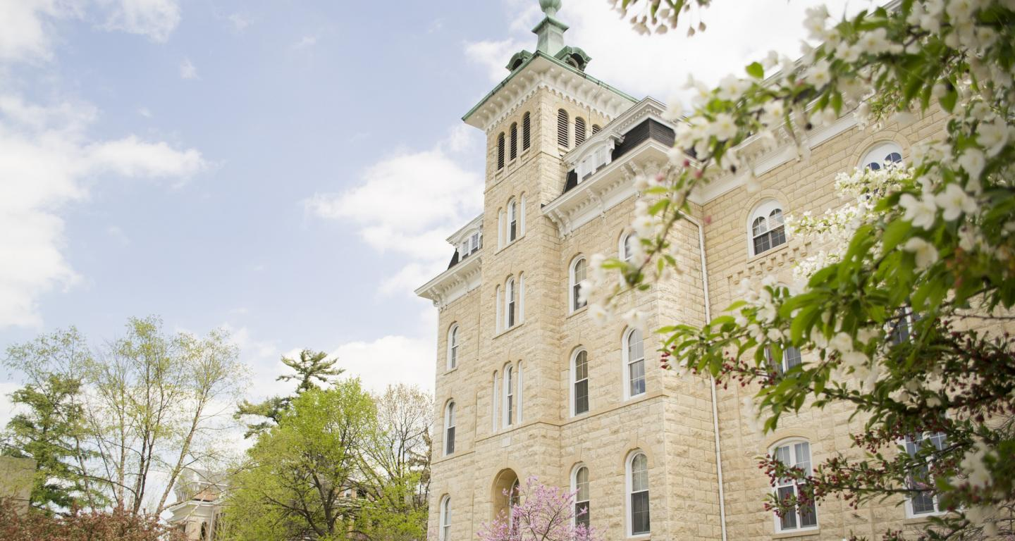 Old Main in spring