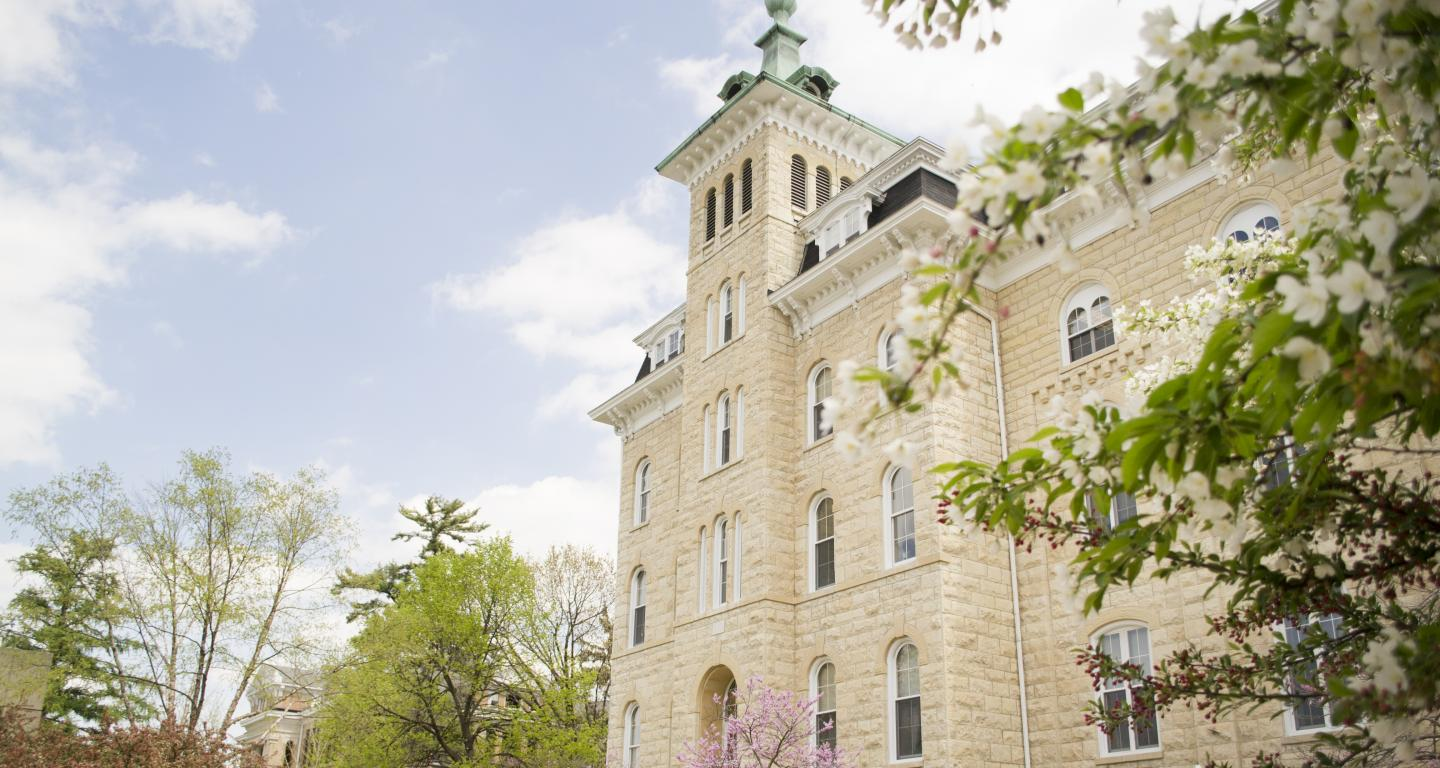Old Main Building on North Central College Campus