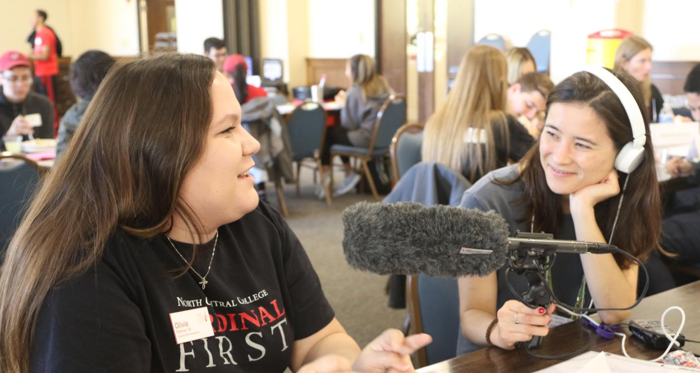 Cardinal First student Olivia Ramirez speaks with NPR.