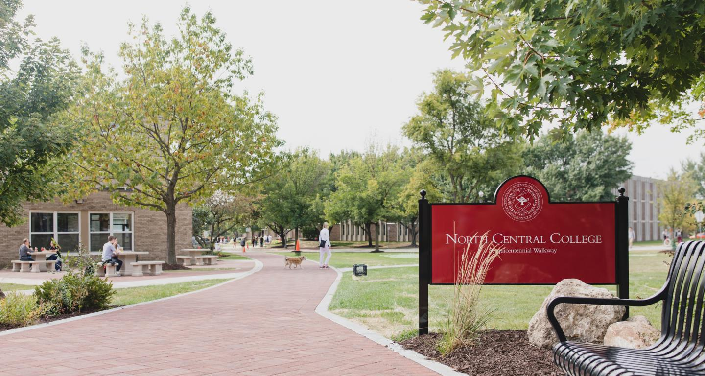 fall on north central college campus