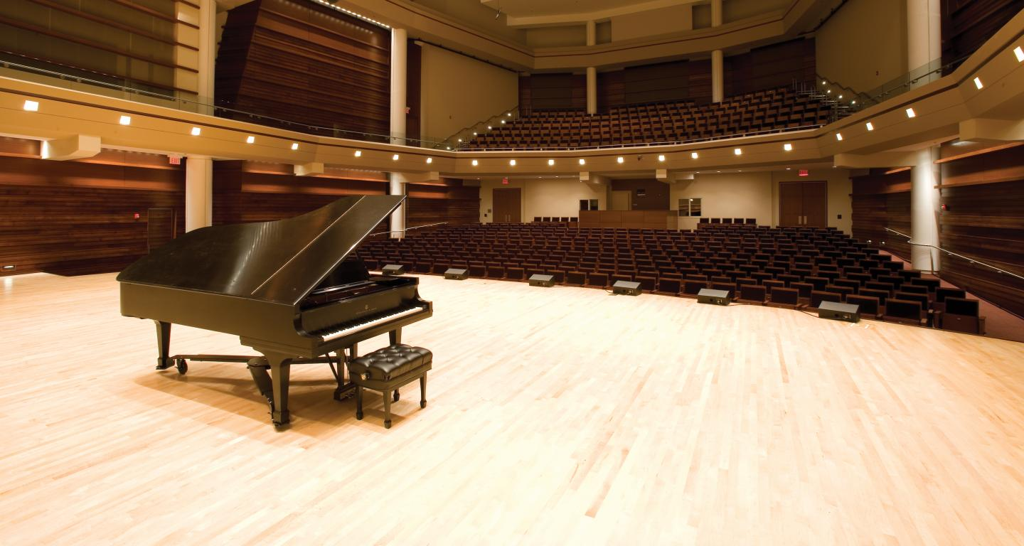 wentz concert hall stage