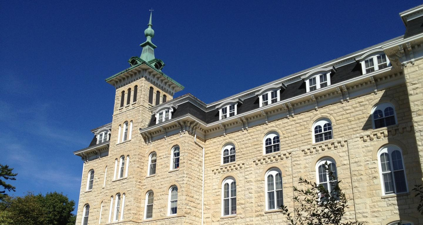 Old Main, the administrative building at North Central College.