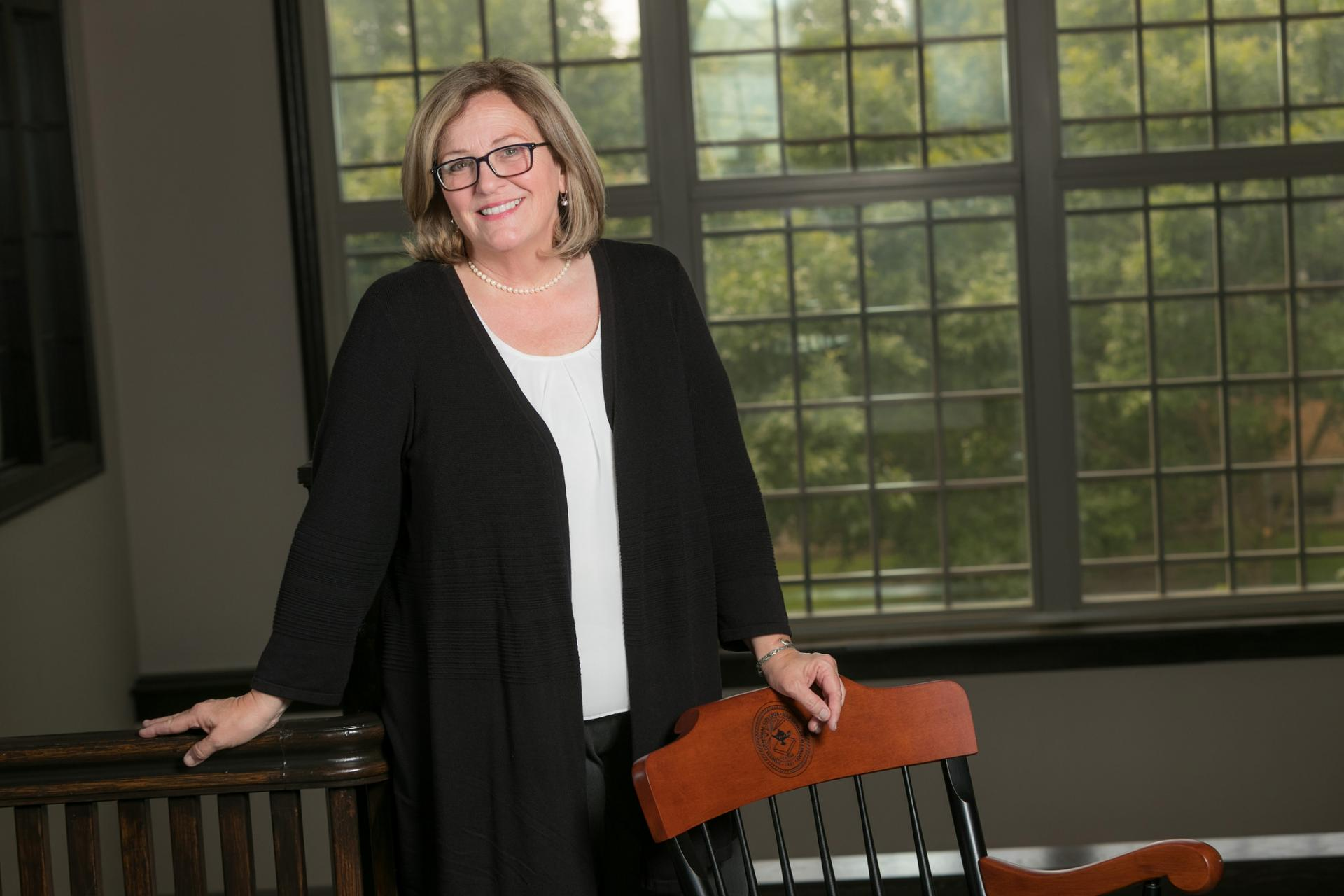 Jennifer Jackson poses as newly selected endowed chair