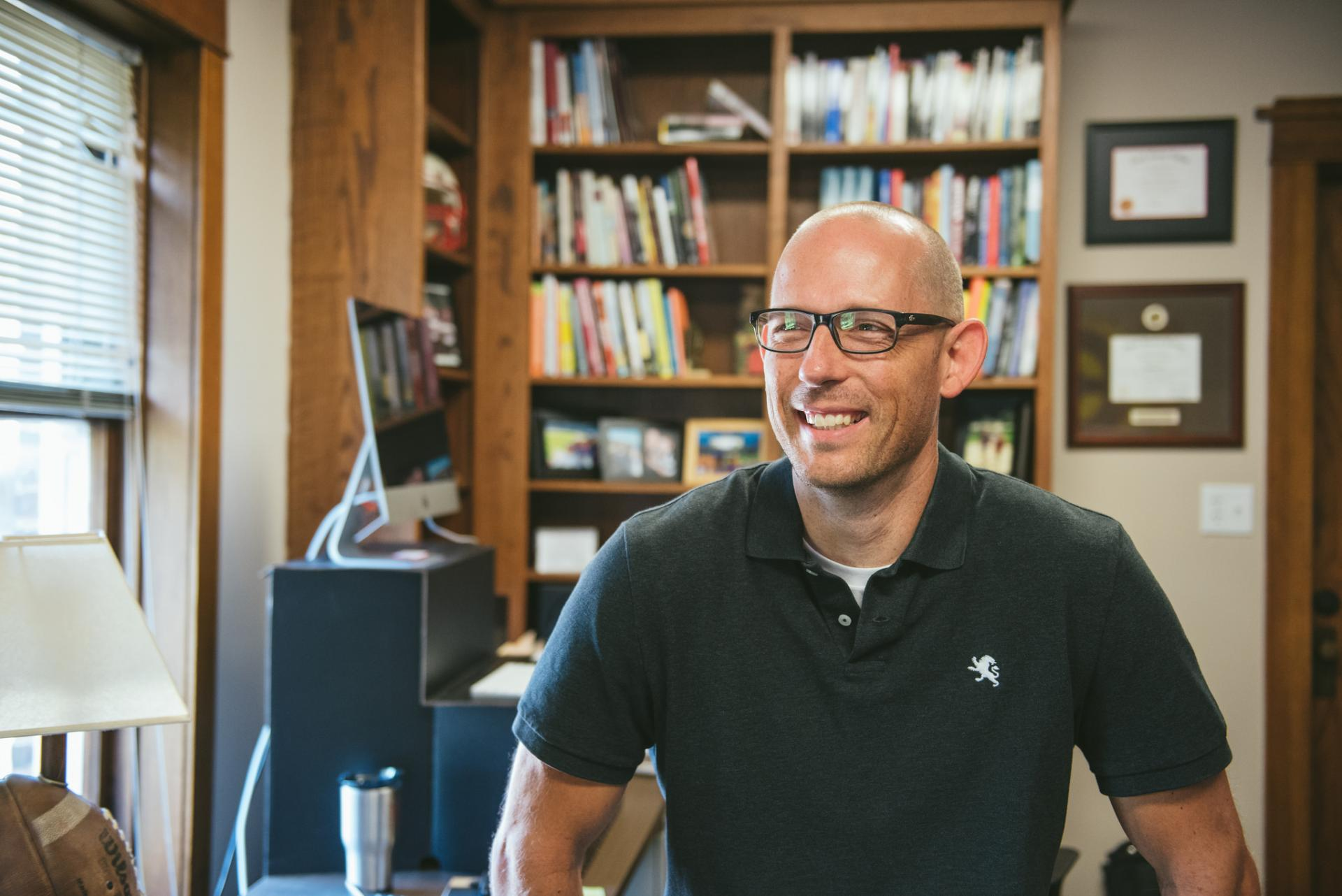 Jeremy Gudauskas '99/M '11, assistant vice president and co-director of the Center for Social Impact