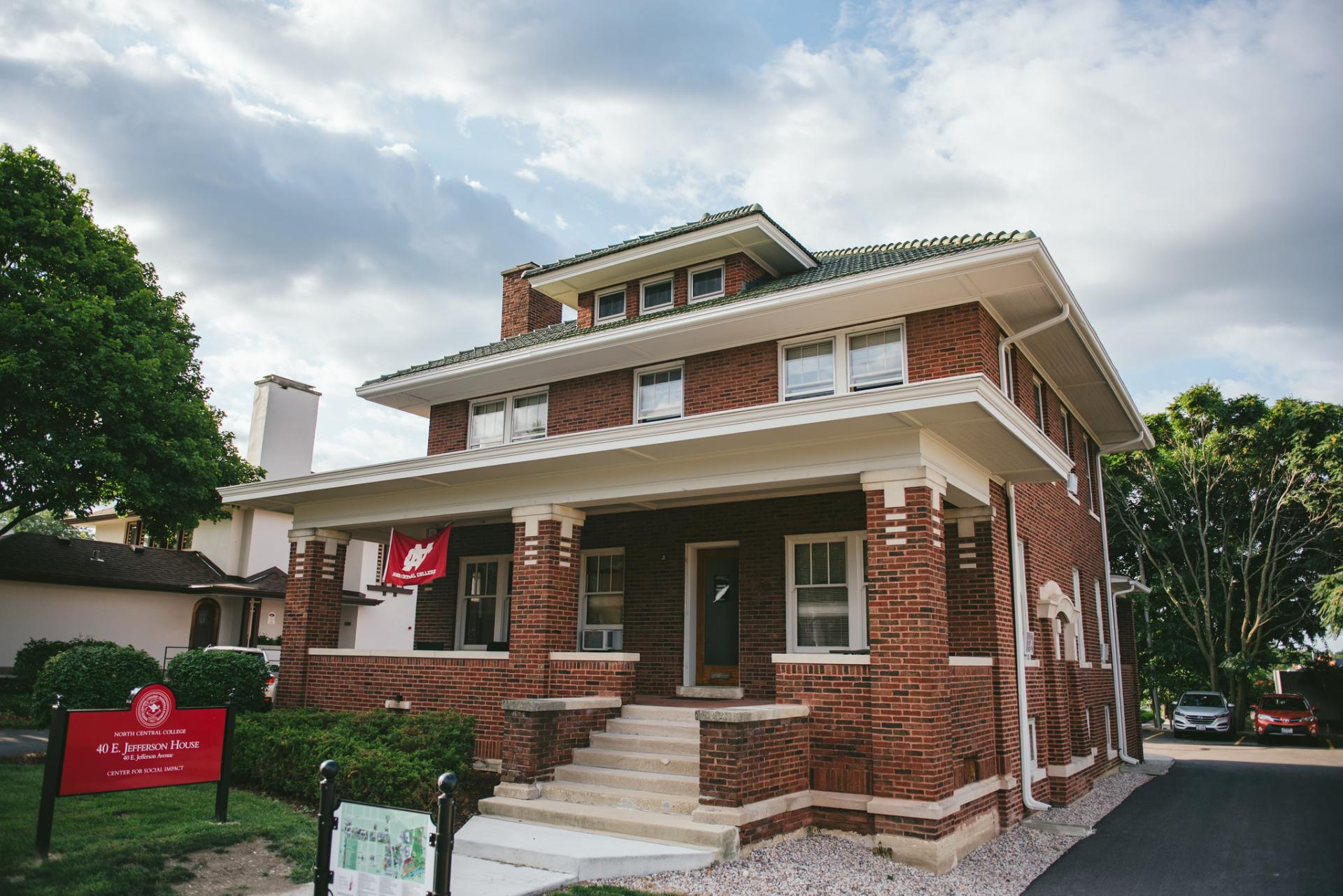 The house at 40 E. Jefferson Avenue in Naperville, home of North Central College's Center for Social Impact.