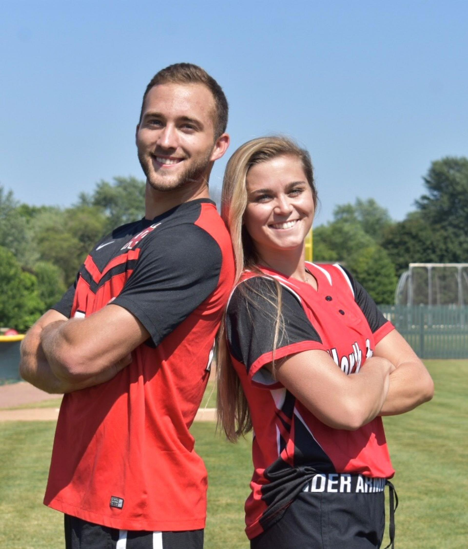 "Jared Collier and Taylor Clugston play men's soccer and softball respectively at North Central College. They auditioned for ""The Amazing Race."""