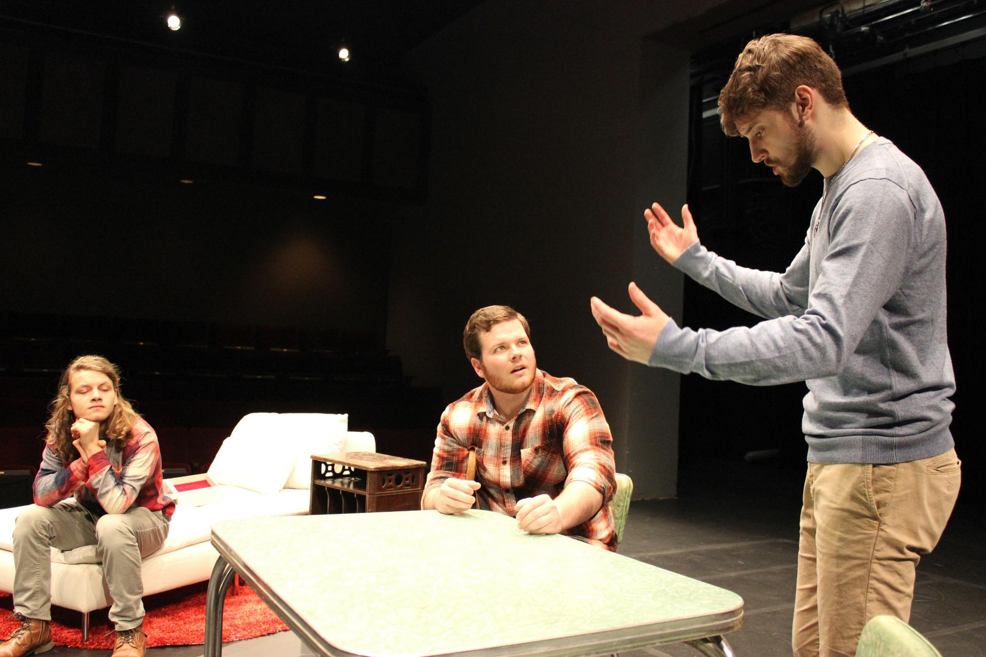 "Students rehearse ""Logan's Comedy"""