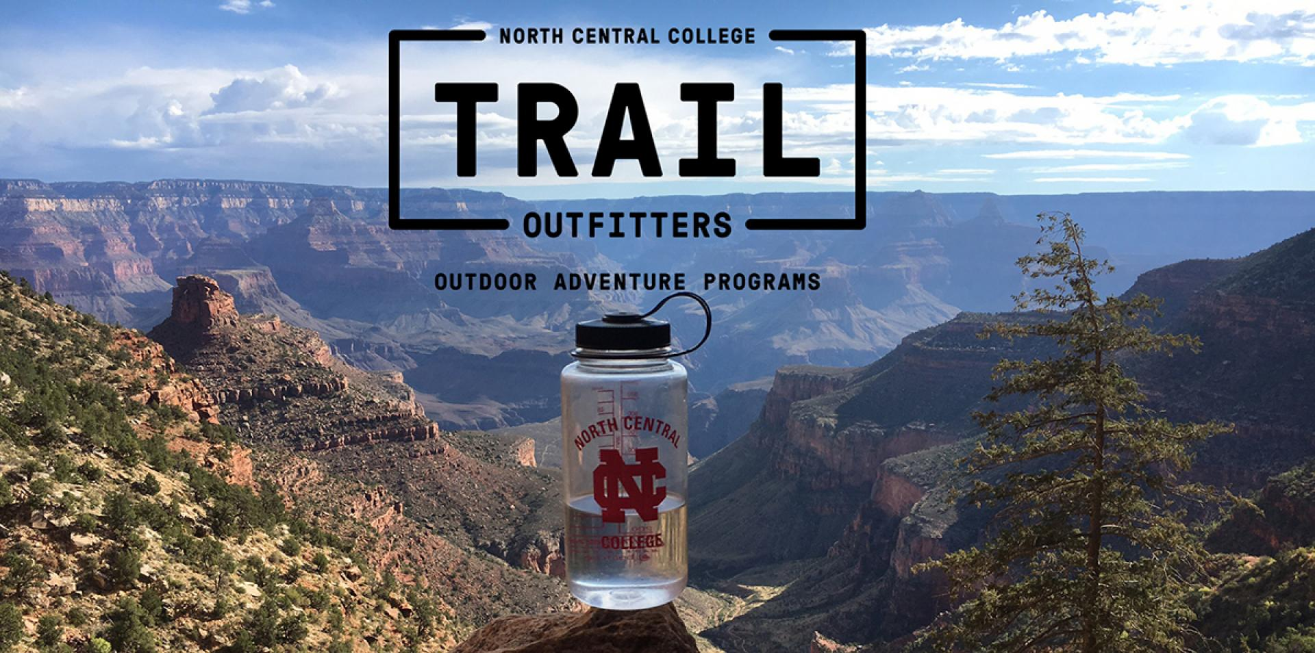 The logo for TRAIL Outfitters from North Central College.