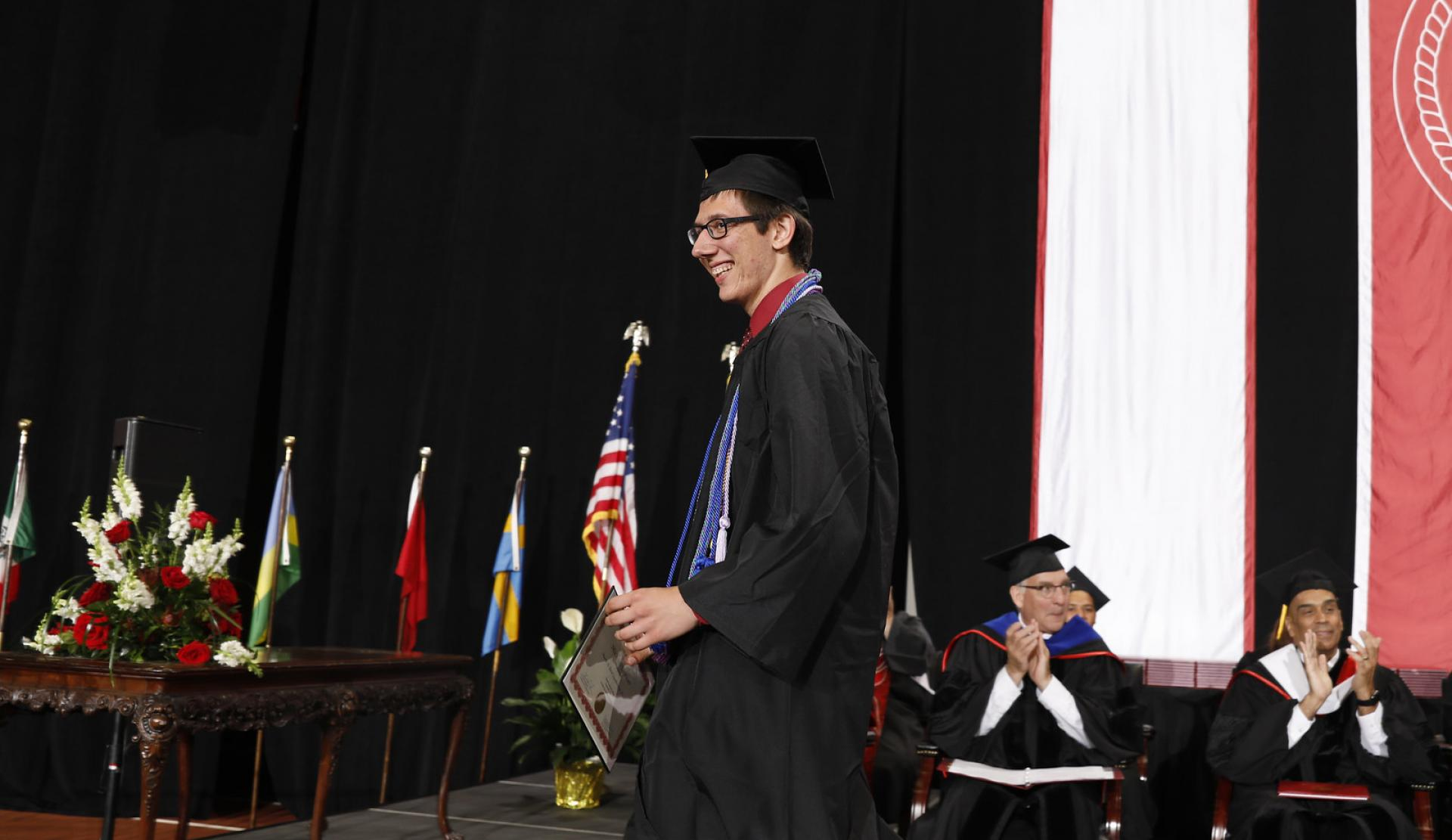 North Central College graduate Michael Brower.