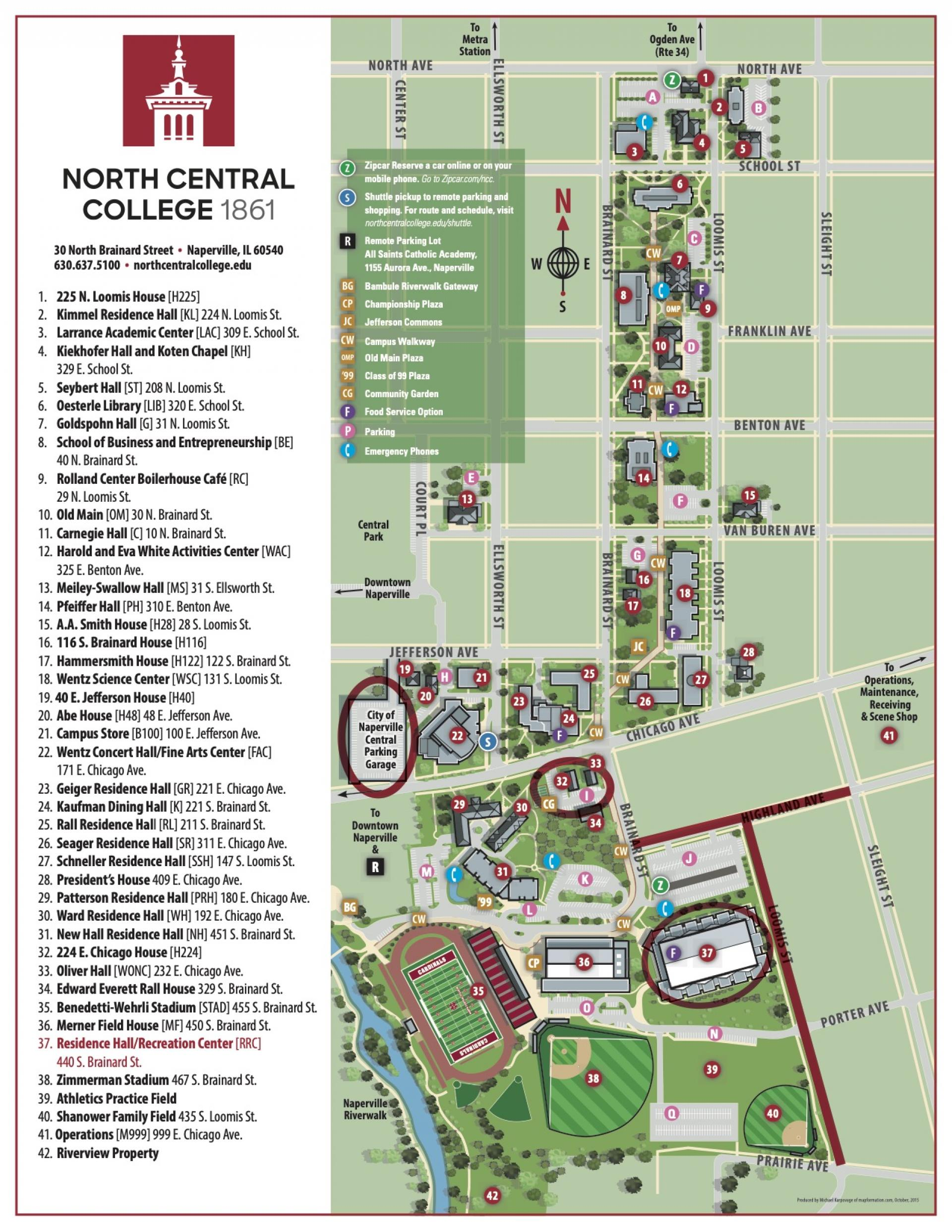 Admitted Student Day Map