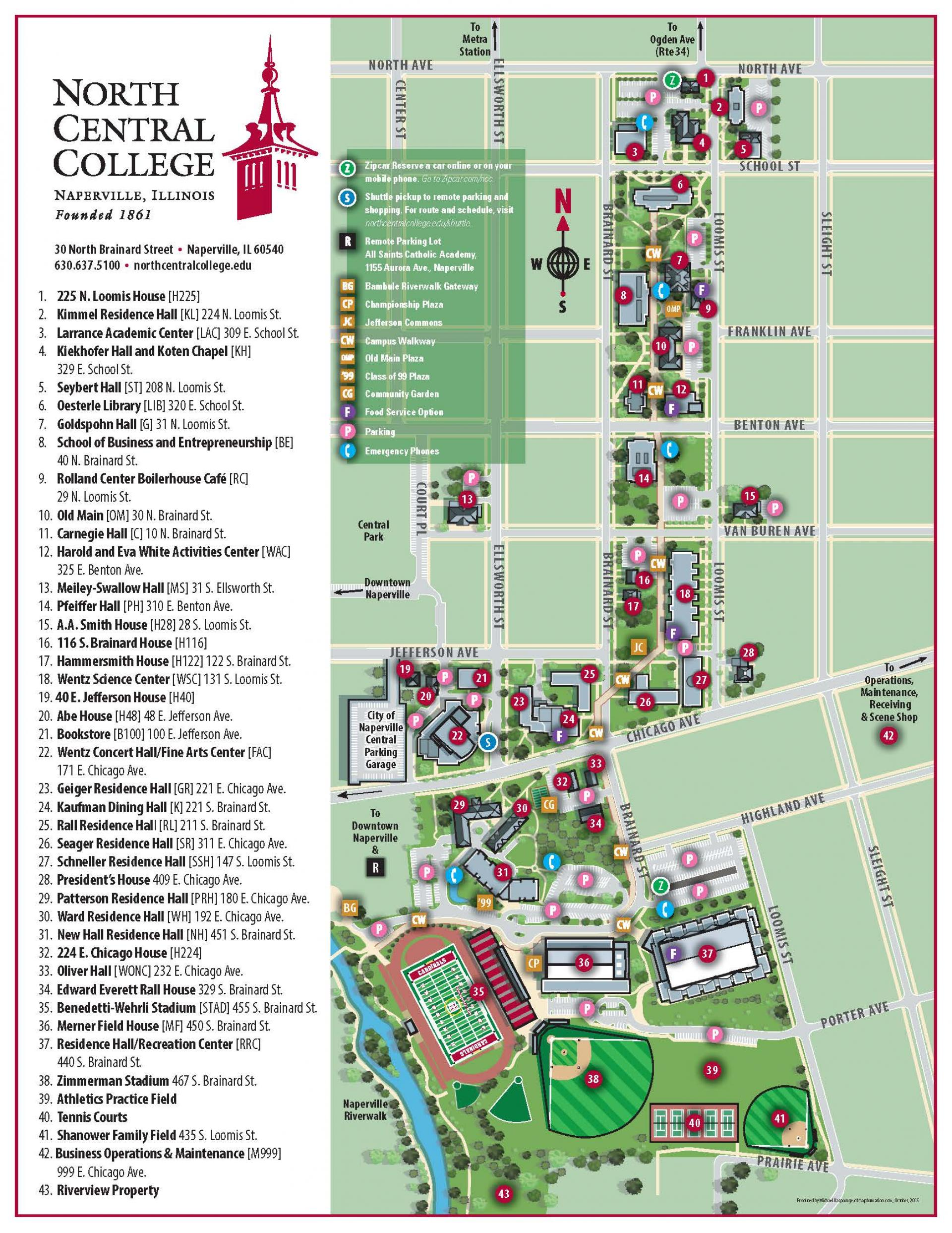 Bundy Campus Map.Smu Campus Map Detailed Map Of The United States