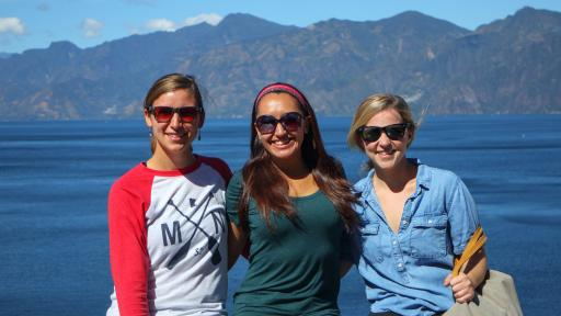 Honors students on a study abroad trip.
