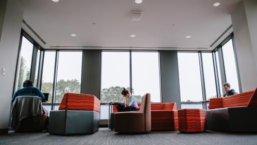 Student study lounge in Wentz Science Center