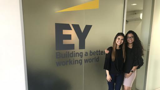 student interns at EY