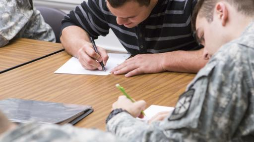 ROTC students in class