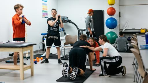 exercise science students in class