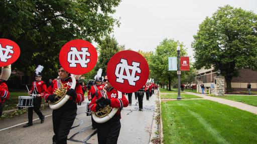 North Central College marching band