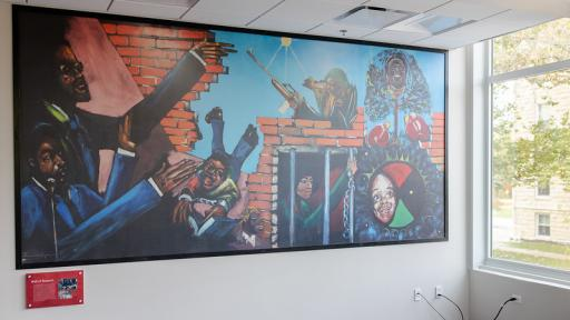 Mural in the Office of Multicultural Affairs