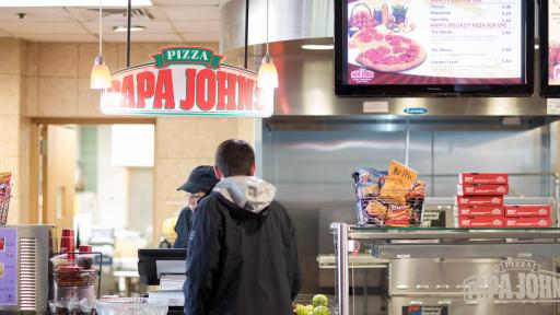 papa johns counter