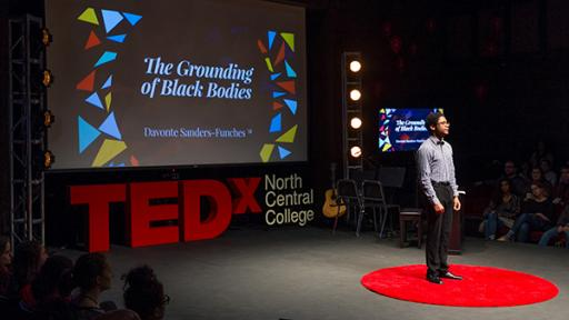 Davonte Sanders-Funches presents at TEDx.