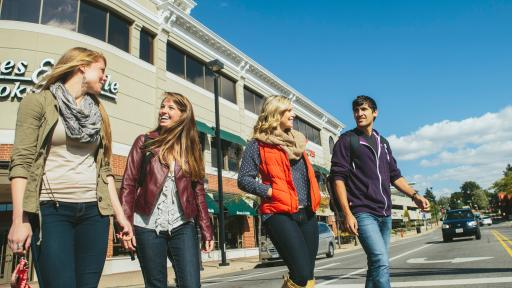 students in downtown naperville