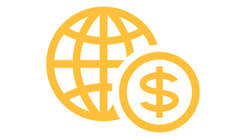 international icon - globe and dollar sign